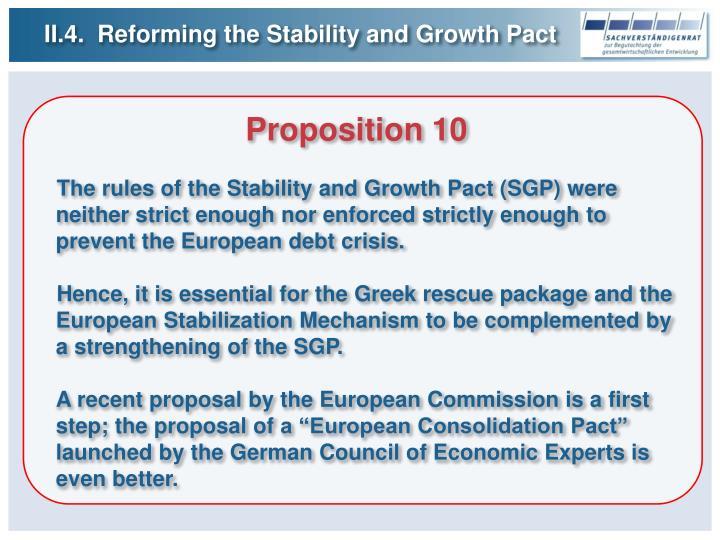 II.4.  Reforming the Stability and Growth Pact