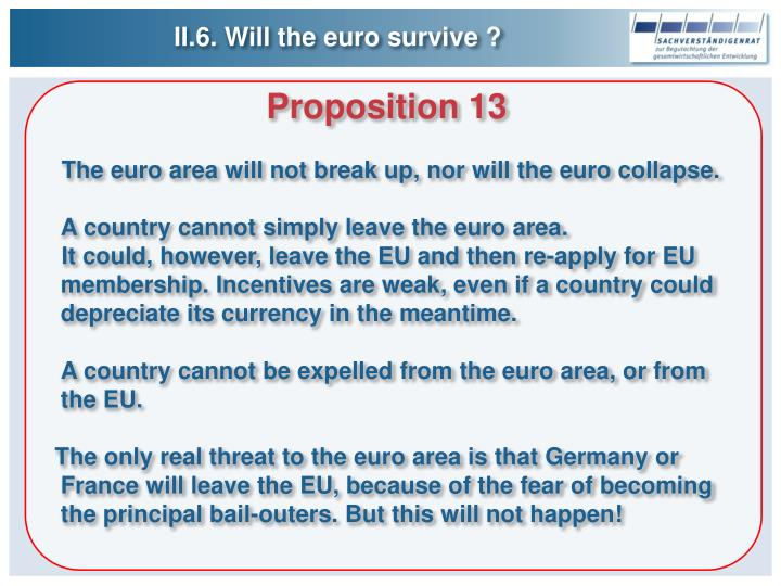 II.6. Will the euro survive ?