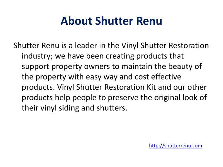 About shutter renu