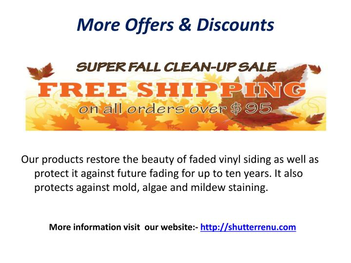 More Offers & Discounts