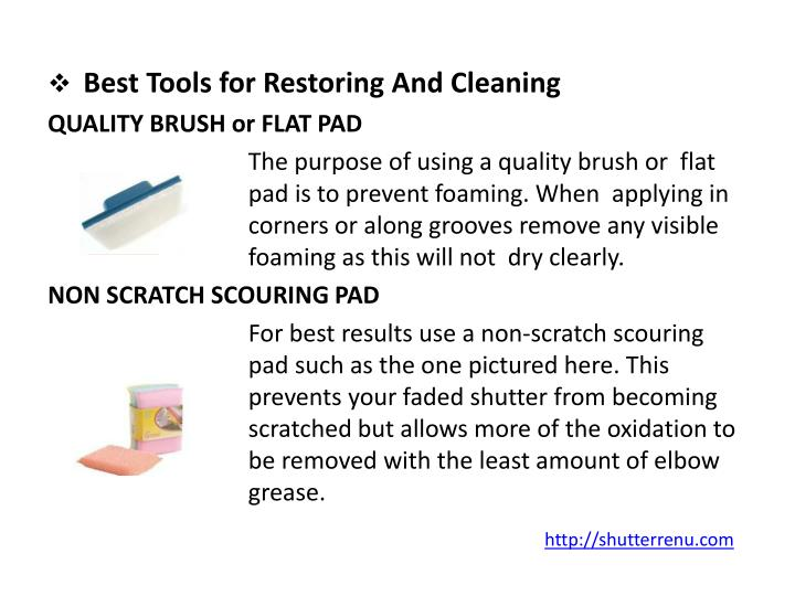 Best Tools for Restoring And Cleaning