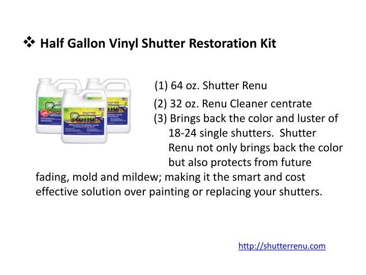 Half Gallon Vinyl Shutter Restoration Kit