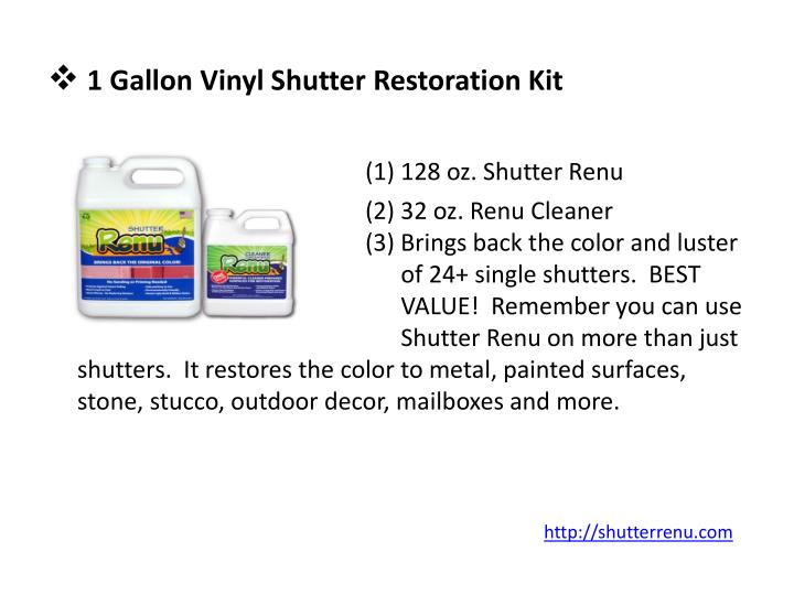 1 Gallon Vinyl Shutter Restoration Kit
