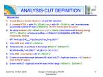 analysis cut definition1