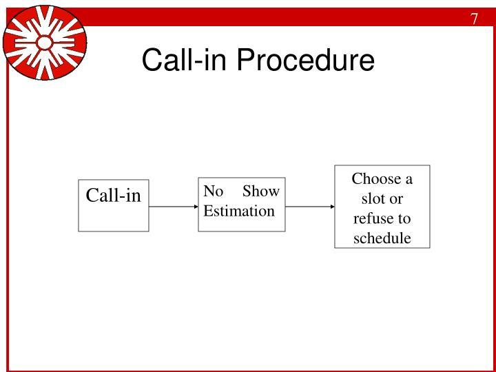 Call-in Procedure