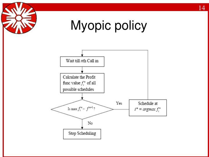 Myopic policy