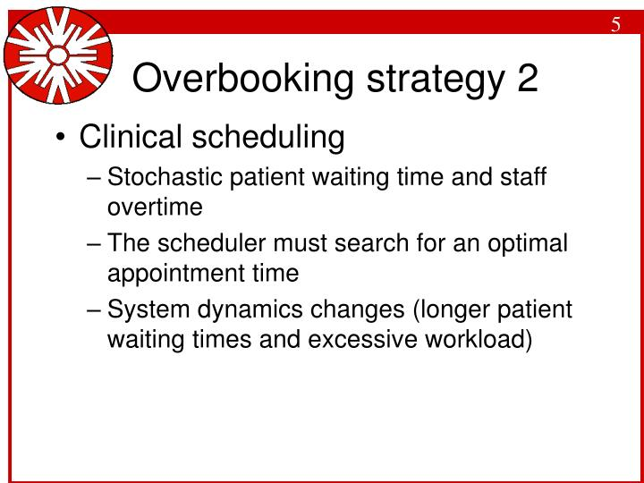 Overbooking strategy 2