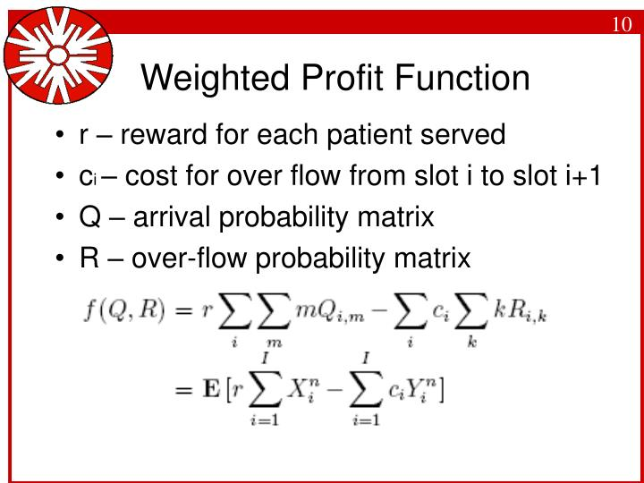 Weighted Profit Function