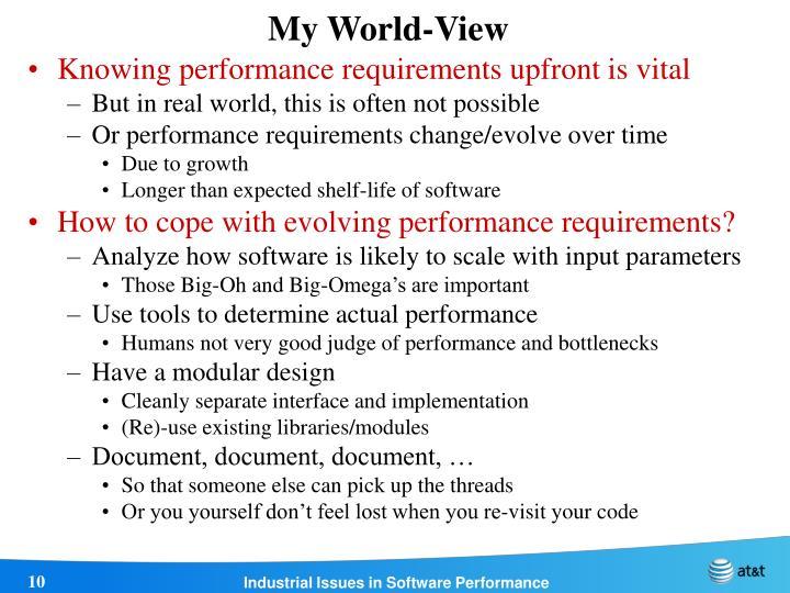 My World-View