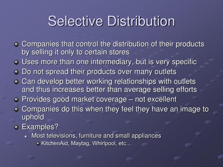Selective Distribution