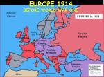 europe 1914 before world war one