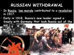 russian withdrawal