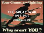 the great war 1914 1919