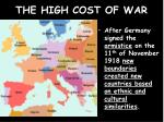 the high cost of war