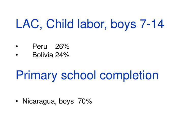 LAC, Child labor, boys 7-14