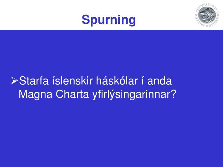 Spurning