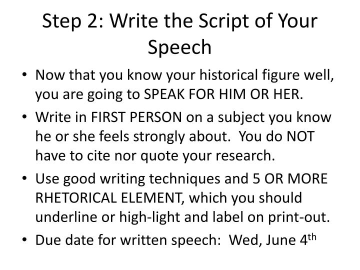 Step 2: Write the Script of Your Speech