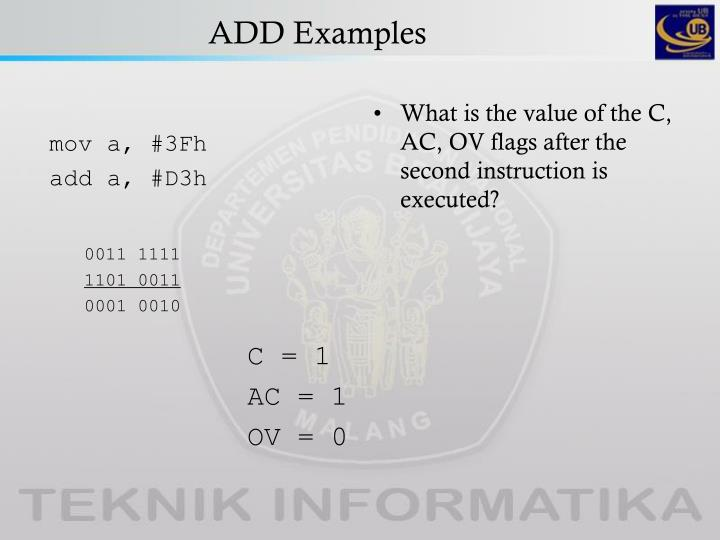 ADD Examples