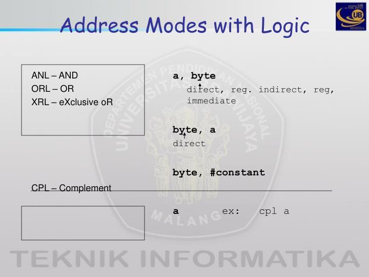 Address Modes with Logic
