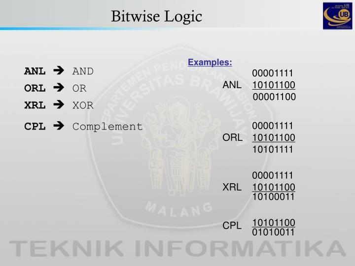 Bitwise Logic