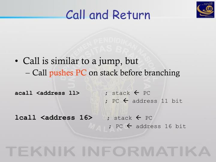 Call and Return