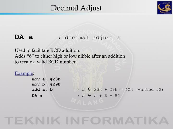 Decimal Adjust