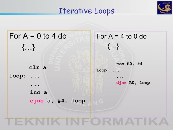 Iterative Loops