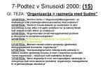 7 podtez v sinusoidi 2000 15 gl teza organizacija razmerja med ljudmi