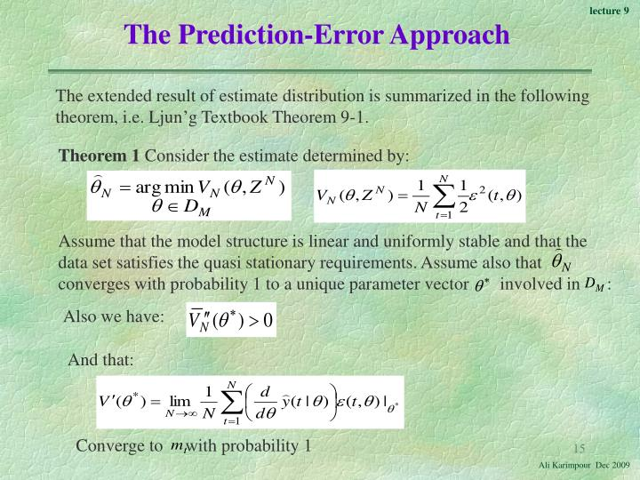The Prediction-Error Approach