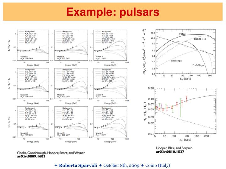 Example: pulsars