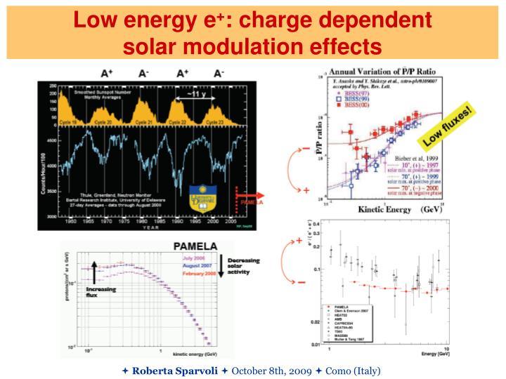 Low energy e