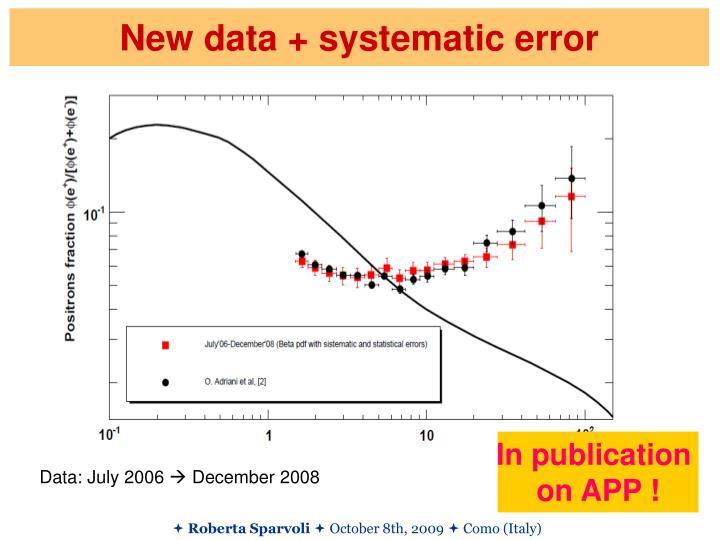 New data + systematic error