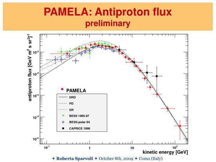 PAMELA: Antiproton flux