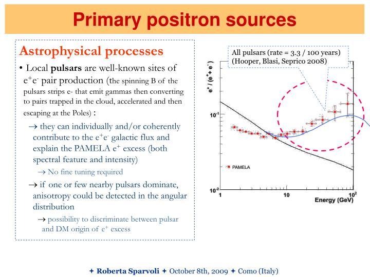 Primary positron sources