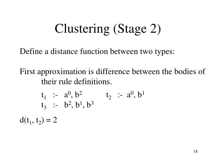 Clustering (Stage 2)