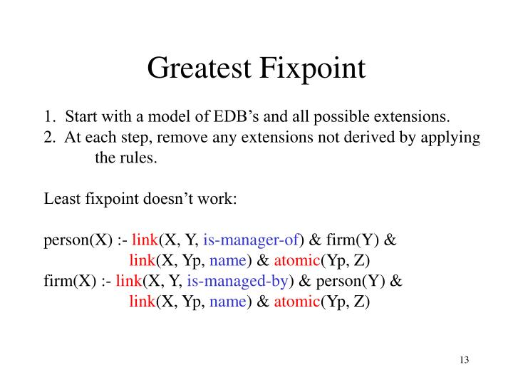 Greatest Fixpoint