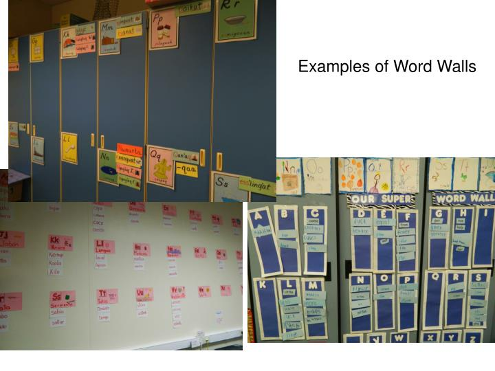Examples of Word Walls