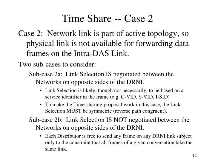 Time Share -- Case 2