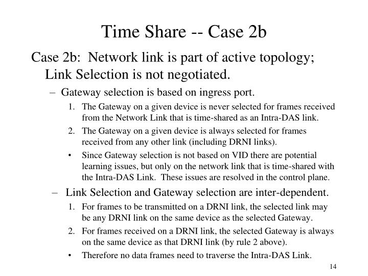 Time Share -- Case 2b