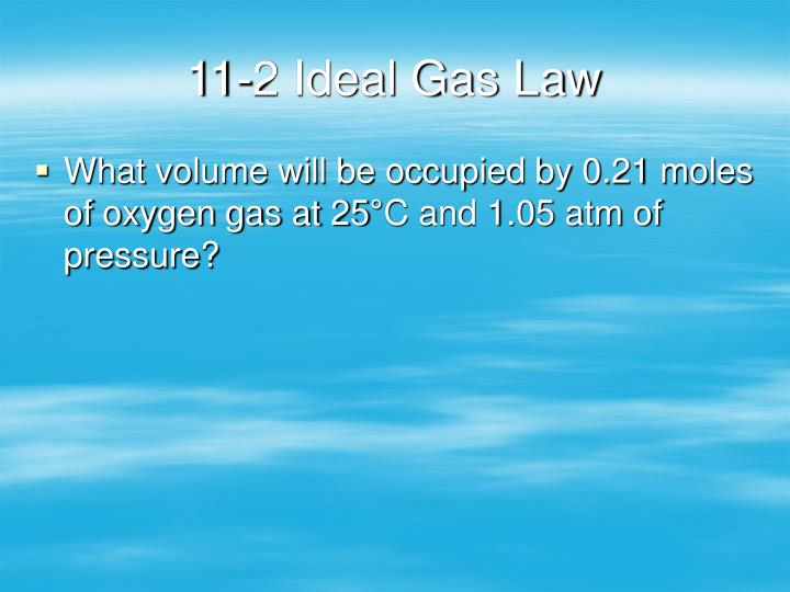 11-2 Ideal Gas Law