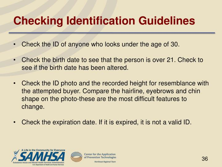 Checking Identification Guidelines