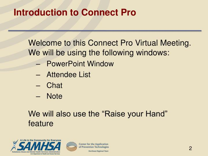 Introduction to connect pro