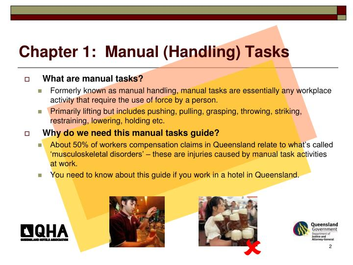 Chapter 1 manual handling tasks