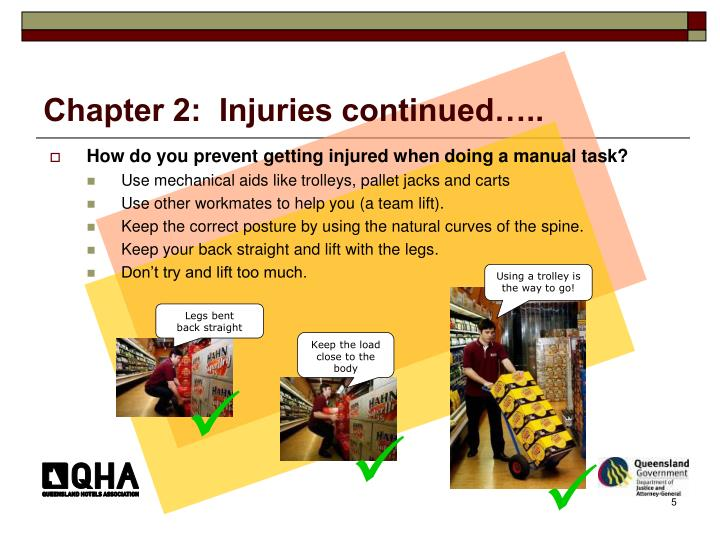 Chapter 2:  Injuries continued…..