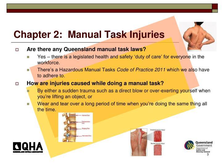Chapter 2 manual task injuries