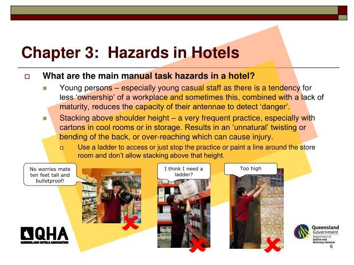 Chapter 3:  Hazards in Hotels