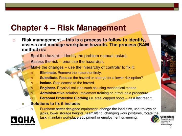 Chapter 4 – Risk Management