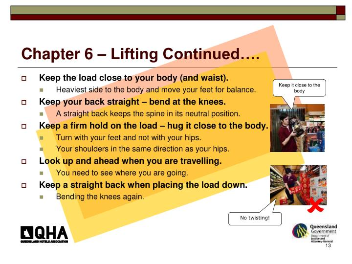 Chapter 6 – Lifting Continued….