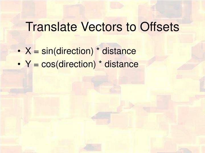Translate Vectors to Offsets