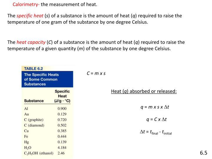 Calorimetry-
